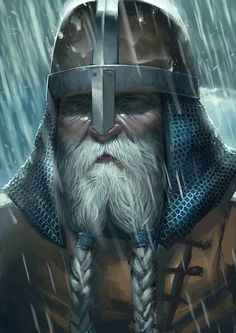 Out there in the unknown you better listen to him... He has survived many storms and sent many arrogant whippersnappers, who tried to kill him, to Valhalla. He never enjoyed killing, but if someone wants to steal your cargo, or wants to force you to believe in his crazy god, what can you do?