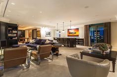 Arrive to the most prestigious high-rise towers in Las Vegas and enter this phenomenal custom suite from your private elevator entrance.