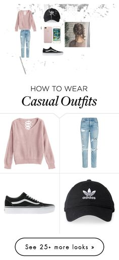 """""""Rainy day casual"""" by ttffmmww on Polyvore featuring GRLFRND, Vans and adidas"""