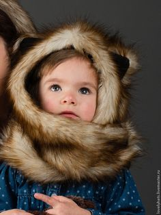 Beast Hat with ears for children, faux fur