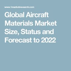 Global Aircraft Materials Market Size, Status and Forecast to 2022