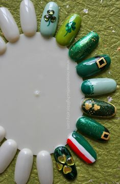 St Patricks Day Nail Art 1
