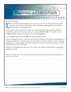 Drawing Conclusions Worksheet Practice Activity - K12Reader - Free, printable learning resources for parents and teachers!