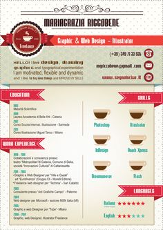 my infographic CV