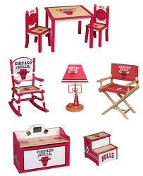 I won't agree to have kids unless they'll get this. Chicago Bulls Childrens Furniture!