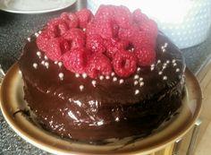 Raspberry Cake, Dairy Free Chocolate, Food Pictures, Desserts, Tailgate Desserts, Deserts, Dessert, Food Deserts
