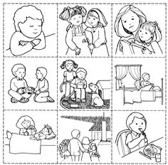 free lds clipart to color for primary children | This black and white image, Good Works Game, was donated by the artist ...
