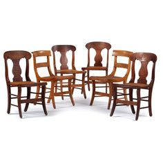 Curly Maple Side Chairs (2/21/2015 - Decorative Art: Live Salesroom Auction)