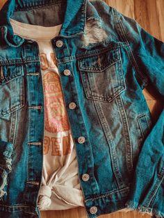 Distressed Denim, Tat, Jackets, Products, Fashion, Down Jackets, Moda, Fashion Styles, Scrap