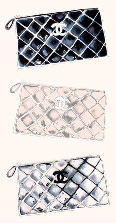 Chanel clutch bag #illustration #fashion #sketch