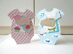 Twin Baby Onsie card