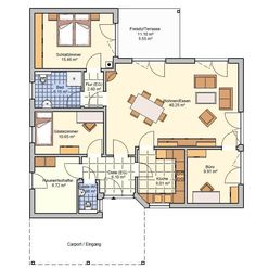 Bungalows Suno www. Bungalows, House Floor Plans, Sweet Home, Cottage, Flooring, Doors, How To Plan, Architecture, Sims