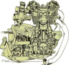 Motorcycle Engine Anatomy Art Print by - X-Small Triumph Chopper, Triumph Motorcycles, Cars And Motorcycles, Triumph 650, Motorcycle Posters, Buy Motorcycle, Cb 450, British Motorcycles, Motorcycle Engine