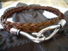 Womens Mens Unisex Leather Bracelet Triple by UrbanSurvivalGearUSA, $18.99