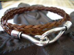 Womens Mens Unisex Leather Bracelet Triple by UrbanSurvivalGearUSA, $18.99