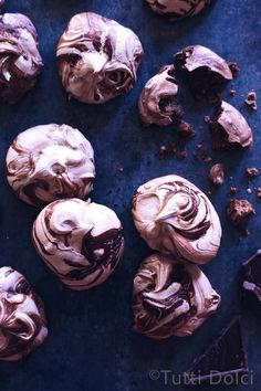 spiced chocolate meringues