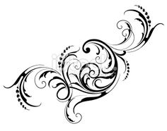Designed by a hand engraver. Intricate scrollwork and leaf design. Change color and scale easily with the enclosed EPS and AI files. Also includes hi-res JPG. Free Vector Graphics, Free Vector Art, Free Vector Images, Fleurs Art Nouveau, Vine Tattoos, Letter Stencils, 3d Drawings, Free Illustrations, Hand Engraving