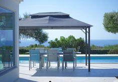 Pavillon Malta in Anthrazit online kaufen ➤ mömax Malta, Gazebo, Outdoor Structures, Modern, Deck Gazebo, Lawn And Garden, Malt Beer, Trendy Tree, Cabana