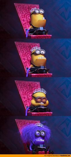 4 stages of minion. Amor Minions, Minions Cartoon, Purple Minions, Evil Minions, Cute Minions, Minions Funny Images, Minions Despicable Me, Minions Quotes, Minion Stuff