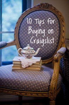 10 Craigslist Buying Tips Don't buy anything on Craigslist until you read this first! www.cedarhillfarmhouse.com