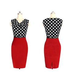 awesome Janecrafts Hot Office Dresses (XXL) -1.  100% Brand New, Checking seriously and Package   best before shipping. 2.  The most popular polka dot and contrast color design,   slim cut which show off your charming curves perfect. 3. Nice fit stretches comfy to wear for any occasion, such   as formal party , prom party or cocktail party. -http://weddingdressesusa.com/product/janecrafts-hot-office-dresses-xxl/
