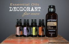 Essential Oils Deodorant for Men |  Yankeehomestead.com