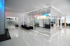 Image 1 of 28 from gallery of Genesis Technology Group / Project-BD Architects. Booth Design, Wall Design, House Design, Commercial Design, Commercial Interiors, Interior Architecture, Interior Design, Chinese Architecture, Futuristic Architecture