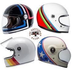Retro Full Face Helmets Retro Helmet, Full Face Motorcycle Helmets, Vintage Helmet, Custom Motorcycle Helmets, Racing Helmets, Full Face Helmets, Cafe Racer Motorcycle, Women Motorcycle, Motorcycle Gear