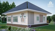 10 Contemporary House Designs With Floor Plan Perfect for Modern Family Single Floor House Design, Small House Design, Modern House Design, House Floor, Modern Bungalow House, Bungalow House Plans, Small House Plans, Beautiful Small Homes, Two Storey House