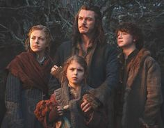 Bard (Luke Evans) and his family , played by John Bell, Mary & Peggy Nesbitt