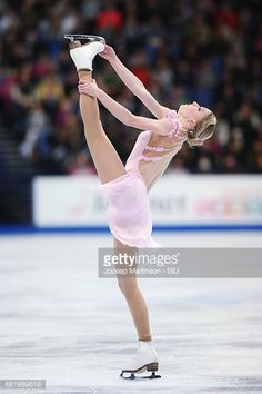 HELSINKI, FINLAND - MARCH 31: Maria Sotskova of Russia competes in the Ladies Free Skating during day three of the World Figure Skating Championships at Hartwall Arena on March 31, 2017 in Helsinki, Finland. (Photo by Joosep Martinson - ISU/ISU via Getty Images)