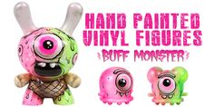 Hand painted vinyl figures from Buff Monster... don't miss out! #Auction #BuffMonster #CustomDunny #CustomVinyl #KidRobot