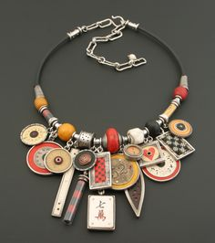 blue bird on neck ring_ Jewelry Crafts, Jewelry Art, Beaded Jewelry, Jewelry Necklaces, Bijoux Design, Jewelry Design, Ethnic Jewelry, Modern Jewelry, Recycled Jewelry