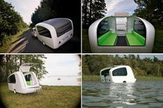 Sealander Amphibious Camping Trailer... oh we're getting this one for sure. !!!!