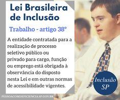Acessibilidade em Questão: LBI-TRABALHO -ART.38º