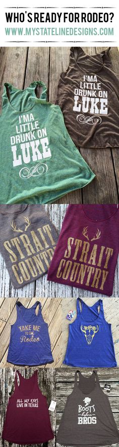 Ready for Rodeo Season? or just need a cute tank or tee for a country festival? You found the right place! www.mystatelinedesigns.com