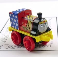 THOMAS & FRIENDS Minis Train Engine DC Super Friends EMILY As Wonder Woman ~ NEW #FisherPrice