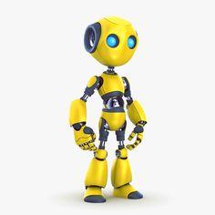 High-poly, model of robot. Character Modeling, 3d Character, Character Concept, Character Design, 3d Modeling, Robot Cute, Cool Robots, Robot Technology, Technology Gadgets