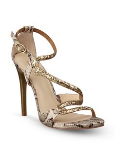 GUESS Strappy Open Toe Evening Sandals - Coraly2 High Heel | Bloomingdale's