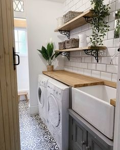 Likes, 91 Comments - Becca Laundry Room Organization, Laundry Room Design, Laundry Rooms, Mud Rooms, Living Room Decor Colors, Laundry Room Inspiration, Kitchen Utilities, Room Goals, Rustic Bathrooms