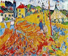 "Pictures If Fauvism | Maurice de Vlaminck fauve painting ""The Circus"""