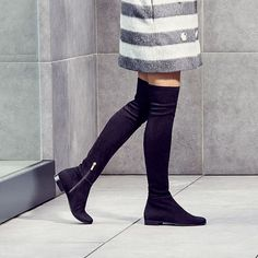 jimmychoo: Step into #Autumn with the suede over-the-knee MYREN boots.