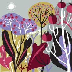 Illustration Lino Prints, Art Prints, Flower Silhouette, Colour Wheel, Charley Harper, Color Harmony, Creative Artwork, Human Condition, Tree Art