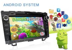 Android system Quad-core  Android 5.1.1 Radio Bluetooth Navigation System for 2006-2011  Honda  CRV with DVD Player  Mirror Link  HD 1024*600 Touch Screen OBD DVR  Backup Camera TV USB SD 3G WIFI IPOD 16G  Flash 1080P Video