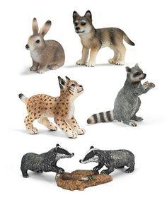 Look at this #zulilyfind! Fie-Piece Forest Figurine Set by Schleich #zulilyfinds