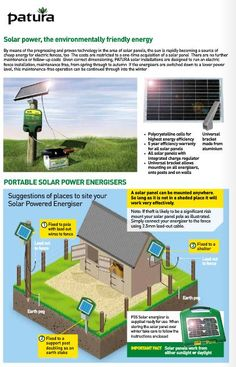 Solar Power - the environmentally-friendly energy source for electric fences!