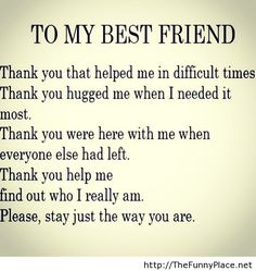 Thank you for my best friend