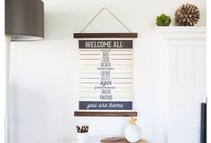 I love everything about this and would love this in our house!! Welcome All 18x24 Canvas on OneKingsLane.com