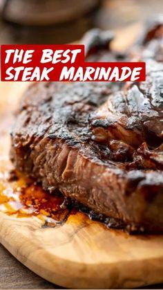 Best Bbq Recipes, No Salt Recipes, Barbecue Recipes, Steak Recipes, Sauce Recipes, Cooking Recipes, Favorite Recipes, Beef Steak Marinade, Steak Marinades