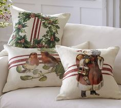 How to imitate those gorgeous Pottery Barn Christmas pillows